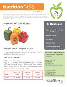 Nutrition Newsletter 8 18 Cover Arkansas Foodbank