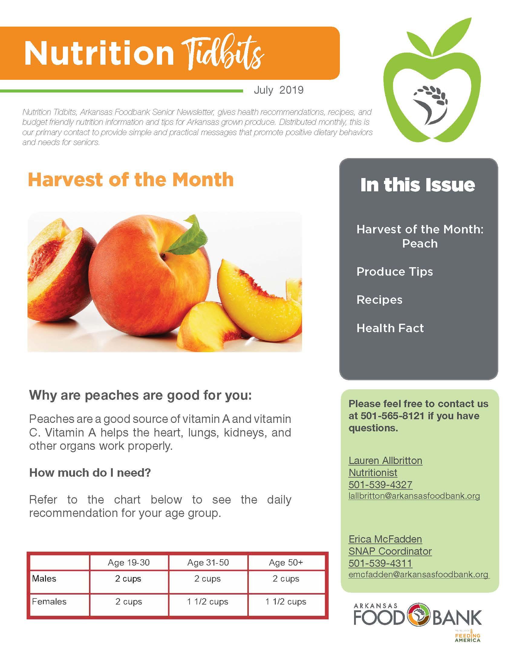 Nutrition Newsletter Cover 7 19 Arkansas Foodbank