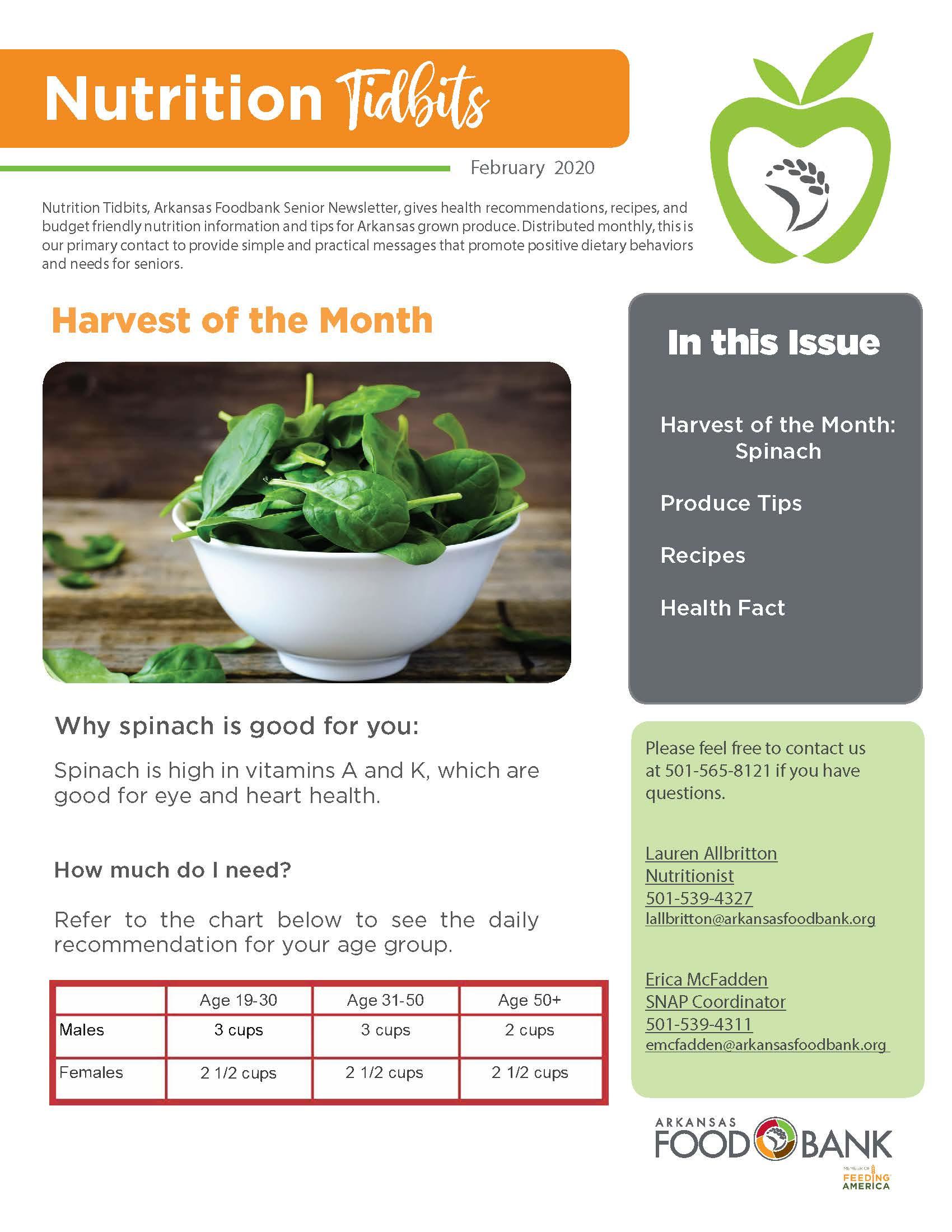 Nutrition Newsletter 2 2020 Cover Arkansas Foodbank