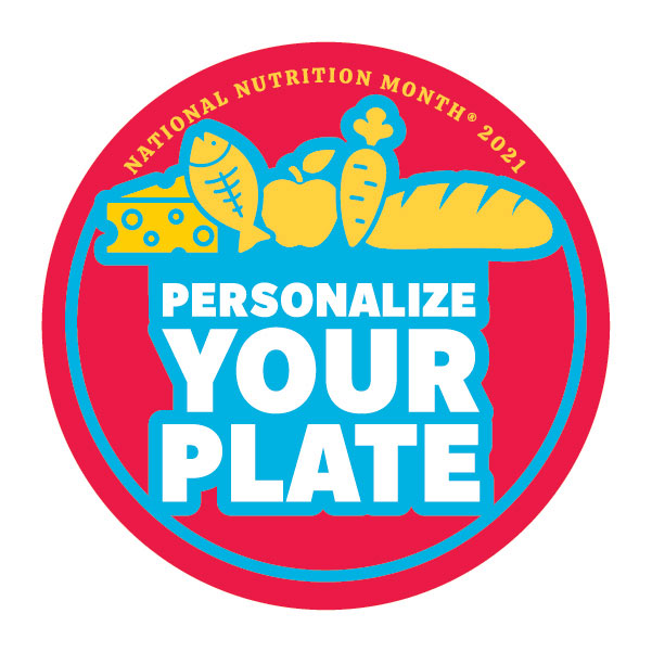 National Nutrition Month Personalize Your Plate Logo